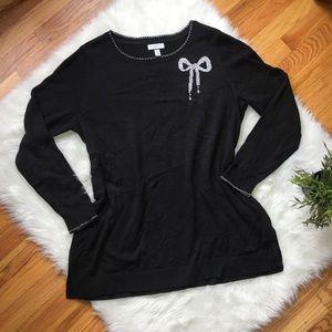 NWT Plus Size Charter Club Black Sweater Size 1X